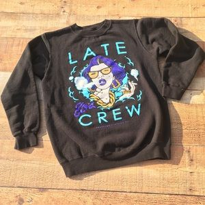 "Prassumo Clothing Co.""Late Crew"" Pop Sweater"